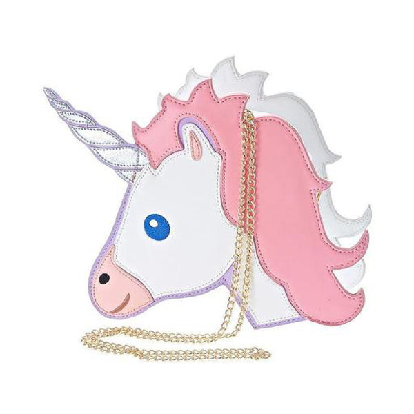 Unicorn Emoji Shoulder Shoulder Bag (Pink) - primatrends.com