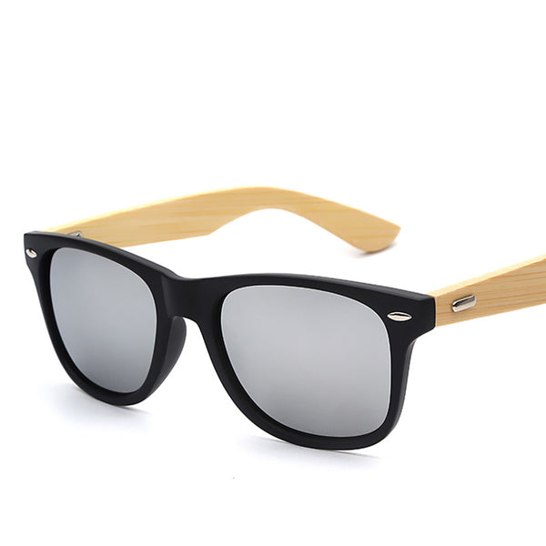 Bamboo Wood Wayfarer Fashion Sunglasses - primatrends.com