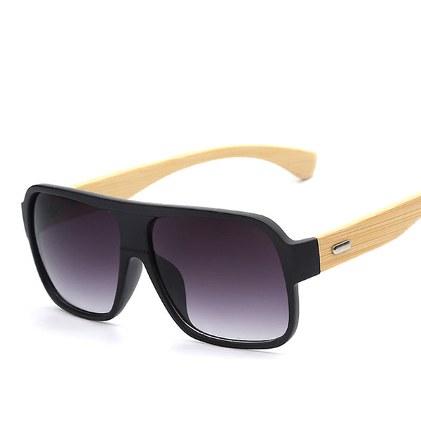 Flat Top Bamboo Wood Fashion Sunglasses - primatrends.com