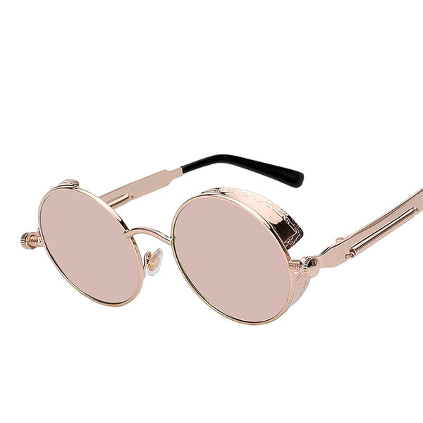 Round Coated Mirror Retro Vintage Circle Sunglasses - primatrends.com