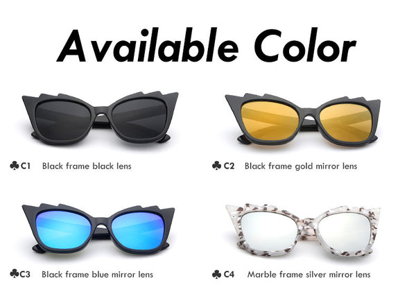 Cat Eye Retro Vintage Fashion Sunglasses - primatrends.com