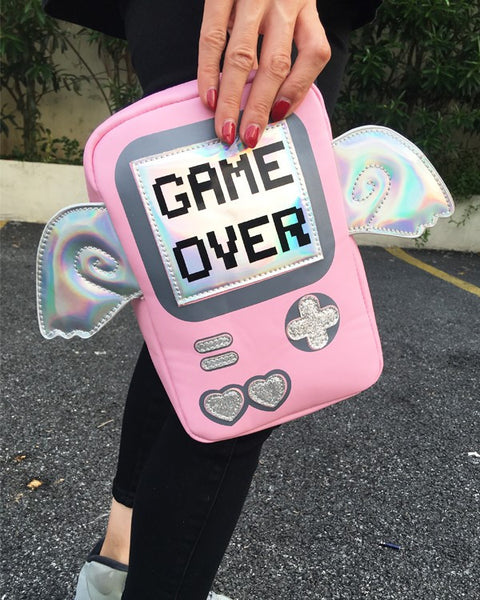 Game Over Laser Wings Mini Shoulder Messenger Bag - primatrends.com