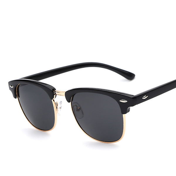 Half Metal Polarized Wayfarer Fashion Sunglasses - primatrends.com
