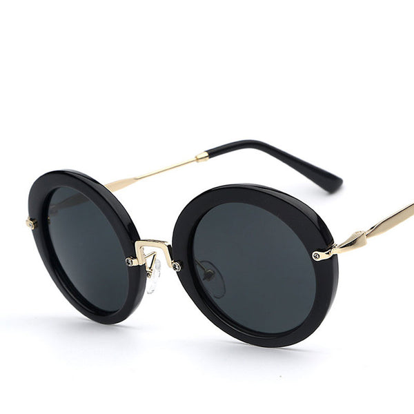 Round Spectacle Lens Retro Vintage Fashion Sunglasses - primatrends.com