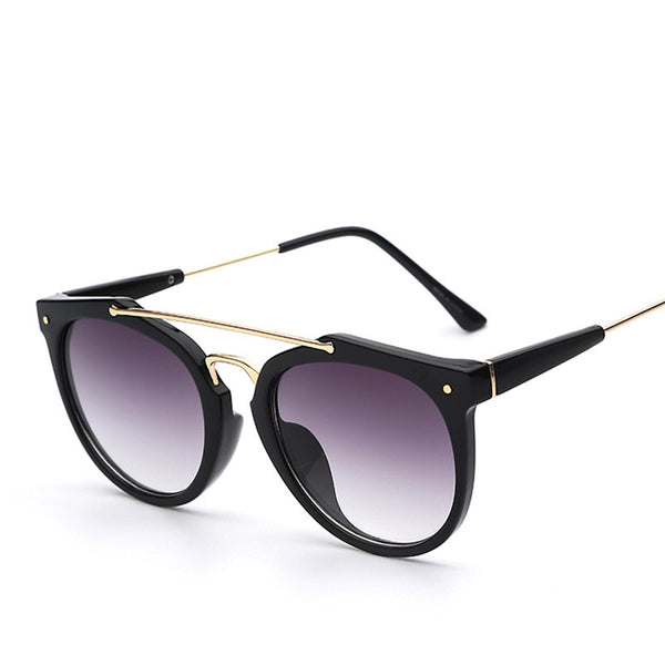 Double Bridge Retro Vintage Fashion Sunglasses - primatrends.com