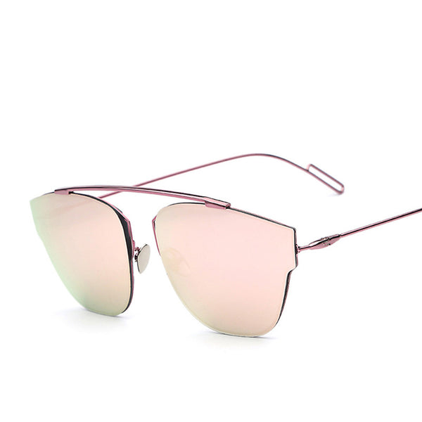 Rimless Metal Frame Retro Vintage Fashion Sunglasses - primatrends.com