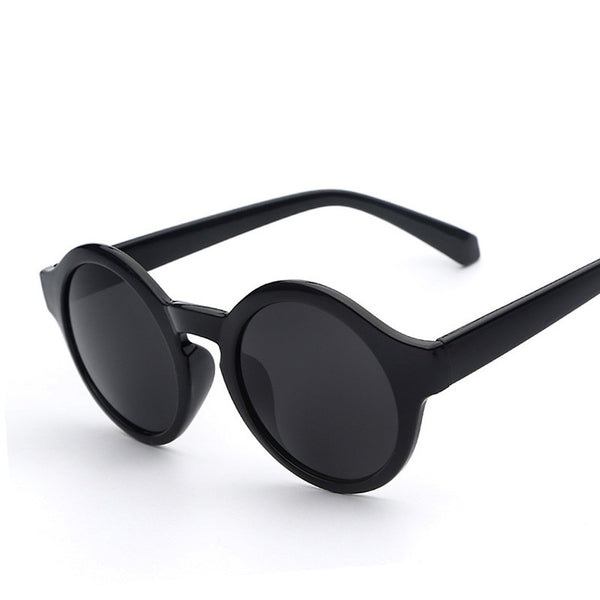 Round Circle Coated Shade Lens Retro Vintage Fashion Sunglasses - primatrends.com