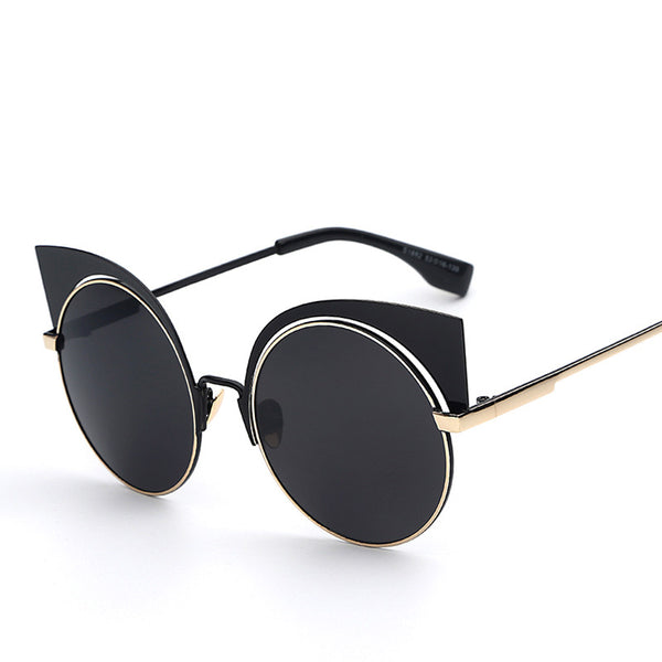 Metal Frame Cat Eye Retro Vintage Fashion Sunglasses - primatrends.com