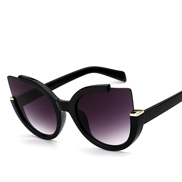 Round Coated Shade Lens Cat Eye Fashion Sunglasses - primatrends.com