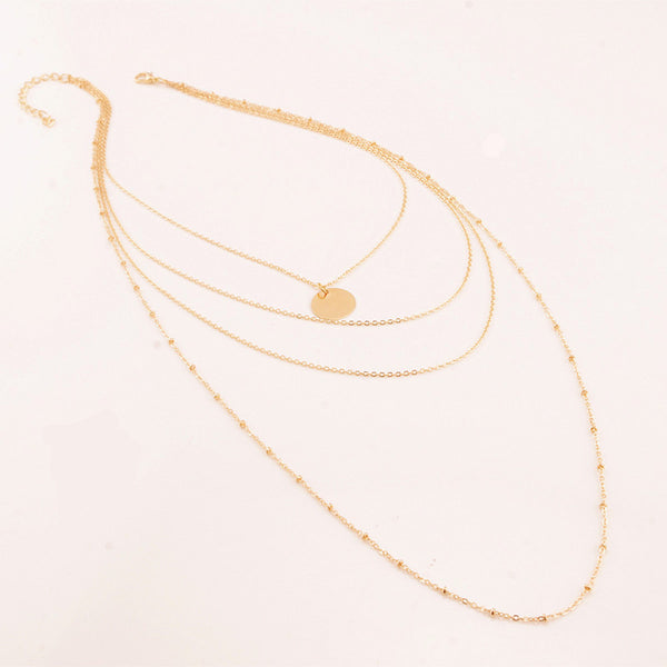 Multi-Layered Clavicle Chain Necklace - primatrends.com