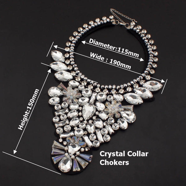 Statement Ethnic Style Crystal Choker Necklaces - primatrends.com