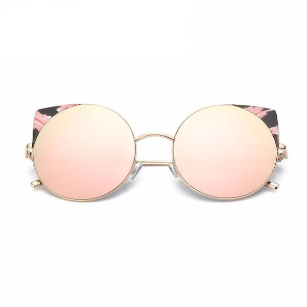 Oversized frame Cat eye Mirrored Sunglasses - primatrends.com