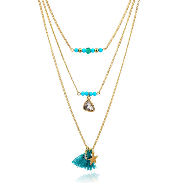 Multi-Layer Boho Style Layered Necklace - primatrends.com
