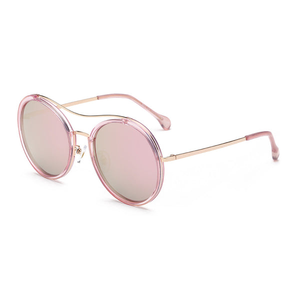 Round Mirrored Retro Vintage Sunglasses - primatrends.com