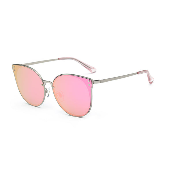 Oversized Squared Cateye Mirrored Sunglasses - primatrends.com