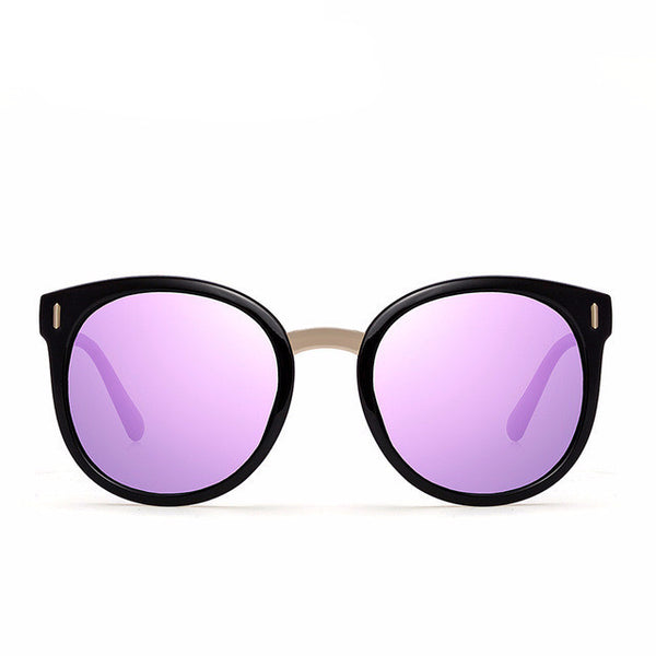 Rounded Polarized Mirror Lens Sunglasses - primatrends.com