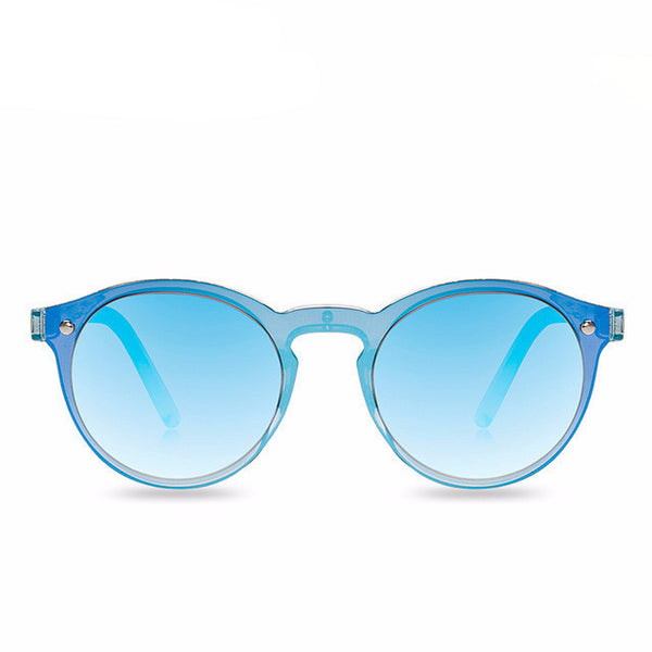 Transparent Blue Mirror Sunglasses Reflective Unisex Sunglasses - primatrends.com