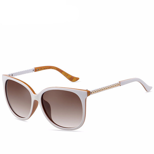 White Frame Polarized Lens Sunglasses - primatrends.com