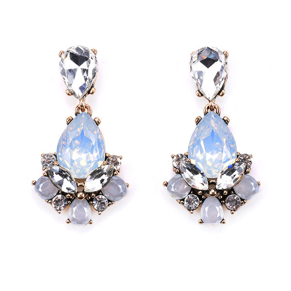 Charming Crystal Statement Drop Earrings - primatrends.com