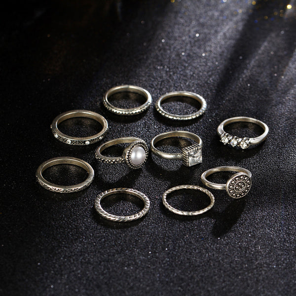 Boho Style 10pcs Mix Midi Ring Set - primatrends.com