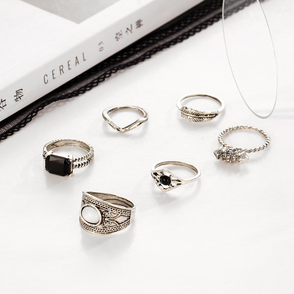 Boho Style 6pcs Ring Set - primatrends.com