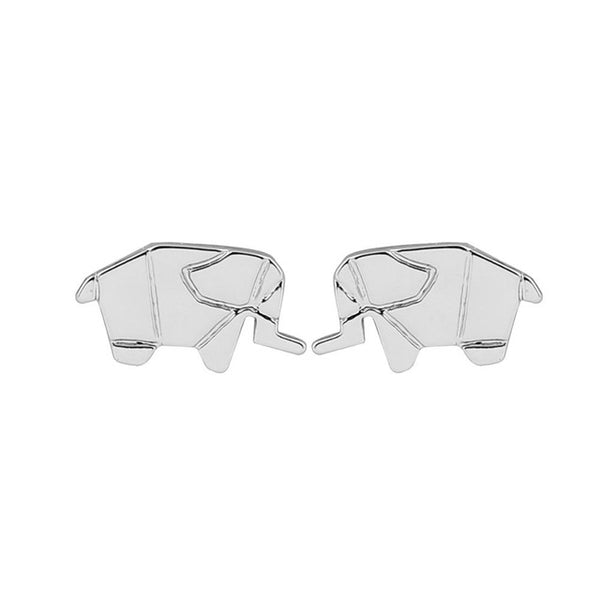 Origami Elephant Stud Earrings - primatrends.com