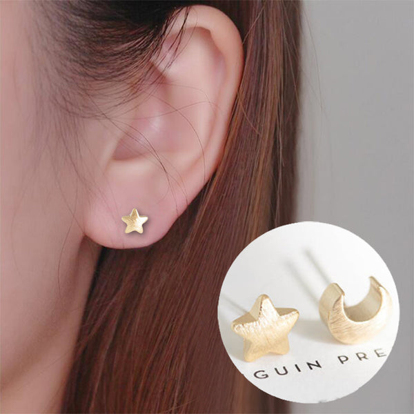 Stars and Moon Stud Earrings - primatrends.com