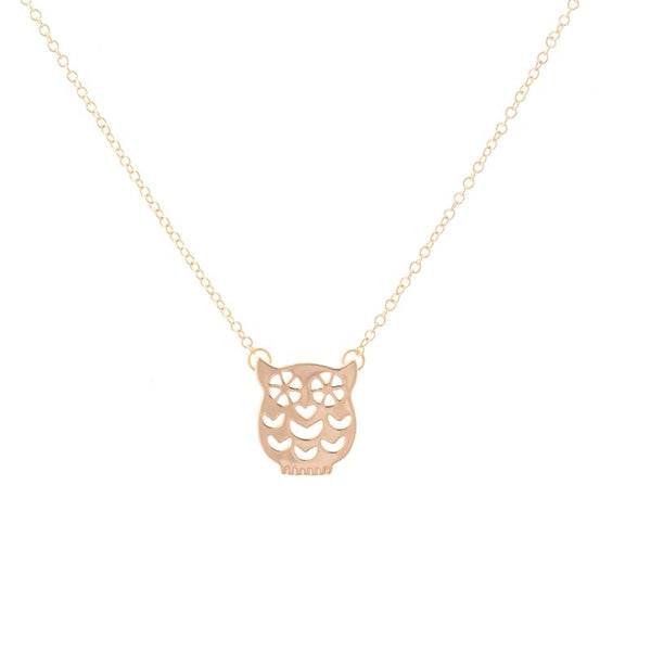 Delicate Night Owl Pendant Necklace - primatrends.com