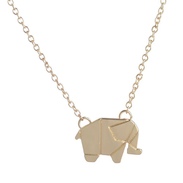 Delicate Lucky Elephant Pendant Necklace - primatrends.com