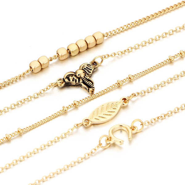 Golden Bohemian Bracelet Chain Set - primatrends.com
