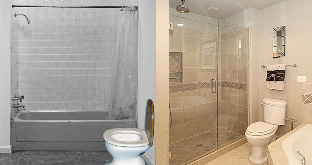 Go Tub-Less: Dump Your Tub for a Roomy Shower? – American ... on home depot handicap shower, mobile homes with garages, modular home disabled shower, mobile home shower pan, mobile home shower tile, mobile home shower stalls, industrial handicap shower, handicap shower rails for outside the shower,