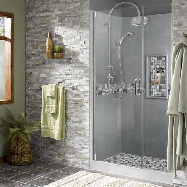 ... Shower Style Is The Most Popular Style Because Of Its Elegant Look With  Its Mixture Of Stone And Glass Within The Accent . Perfect For Any Bathroom  With ...