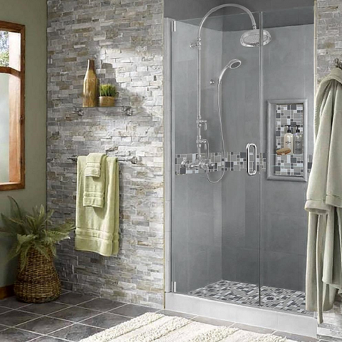 Mosaic Tile Shower Kits American Bath Factory