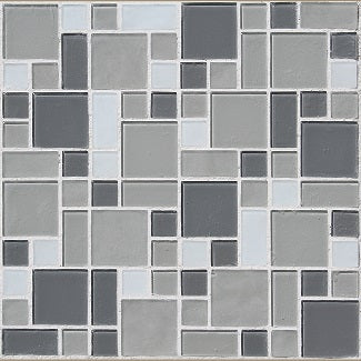 newport mixed mosaic glass tile sample swatch
