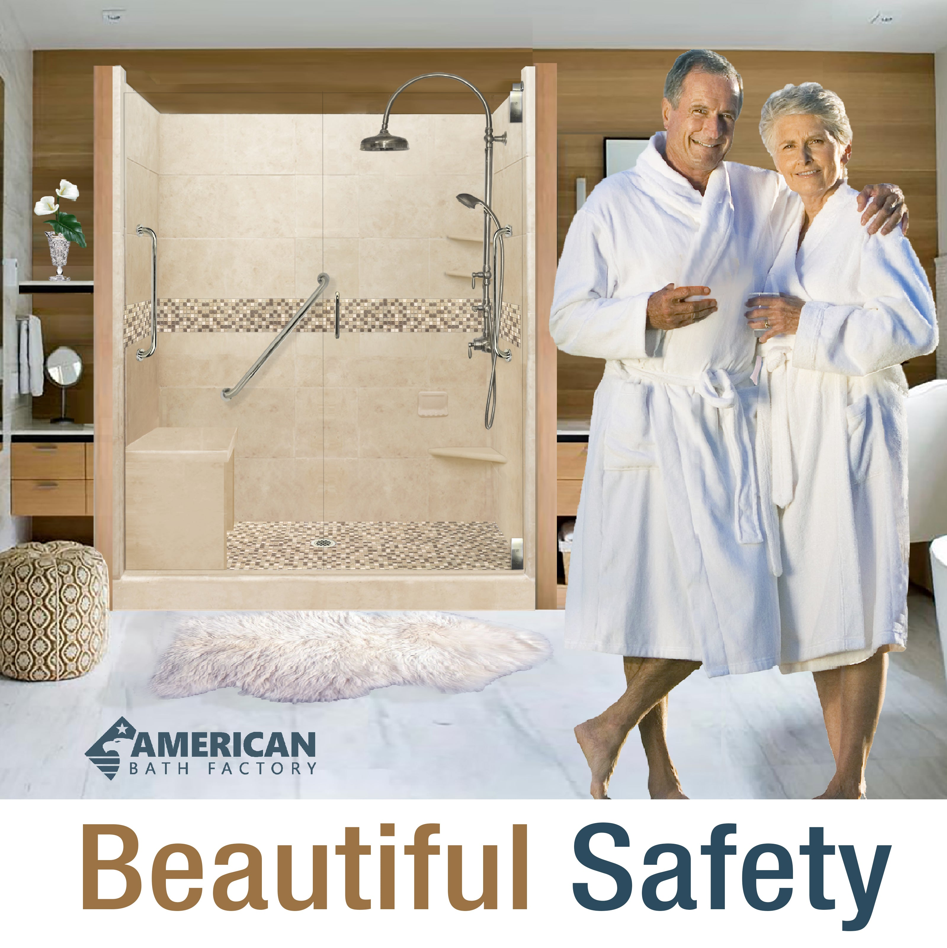 freedom showers, freedom shower kit, accessible shower, aging in place, elderly shower, parents, grandparents, low barrier, shower pan, grabbars, easy to install, custom, shower bench, seated, quick