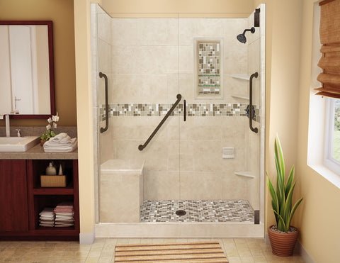 Go tub less dump your tub for a roomy shower american for How big is a standard tub