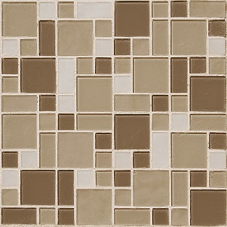 tuscany mixed mosaic glass tile sample swatch