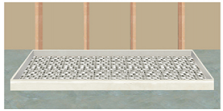install shower pan with compression drain