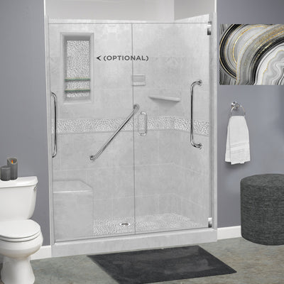 "Freedom Pebble Portland Cement 60"" Alcove Shower Kit"