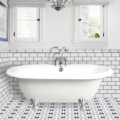 "Double Ended Ball & Claw Feet 60"" Bathtub Chrome & Integrated Drain  Google Ad Clawfoot - American Bath Factory"