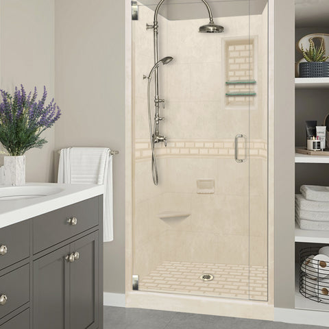 Subway Desert Sand Small Alcove Shower Kit