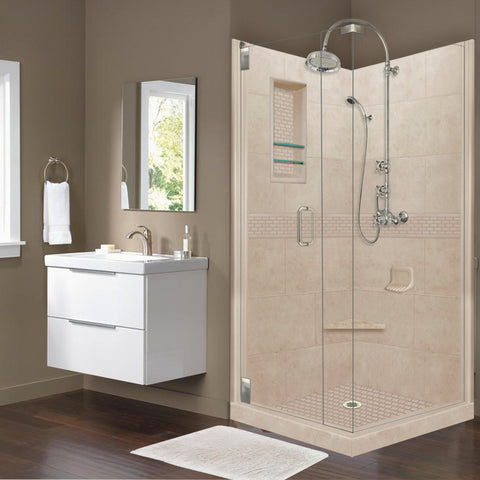 Classic Brown Sugar Corner Shower Kit