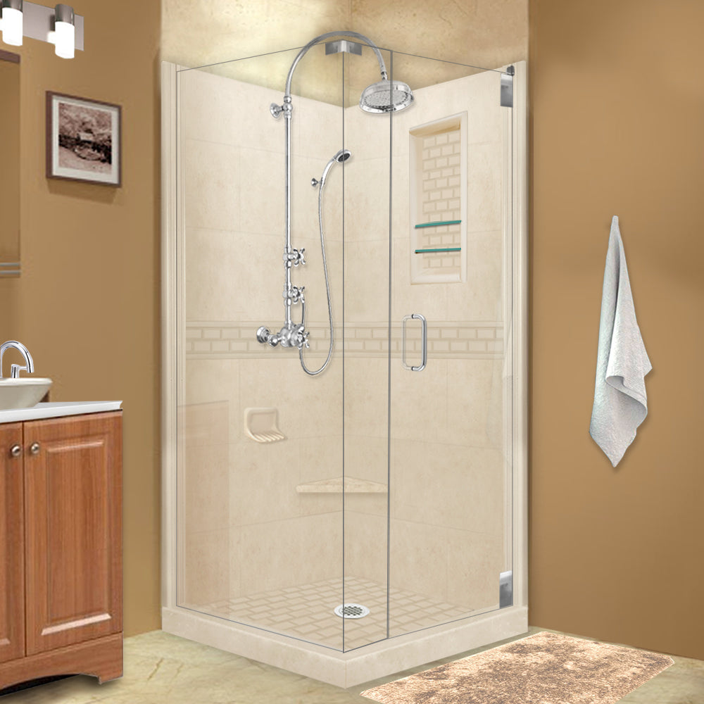 Subway Desert Sand Corner Shower Kit