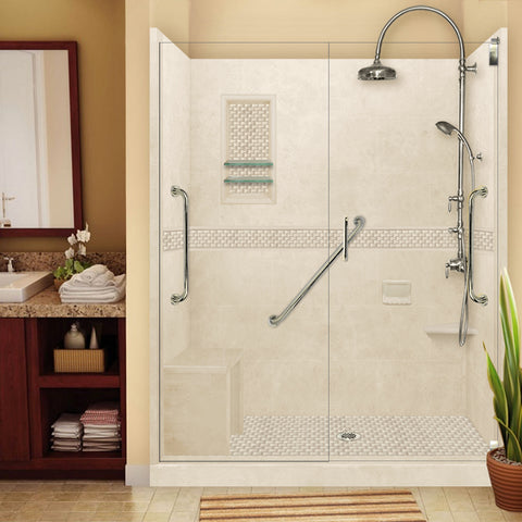 "Freedom Jewel Desert Sand 60"" Alcove Shower Kit"