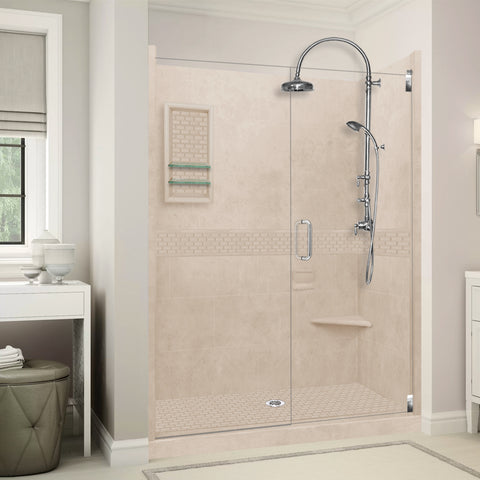 "Classic Brown Sugar 60"" Alcove Shower Kit"