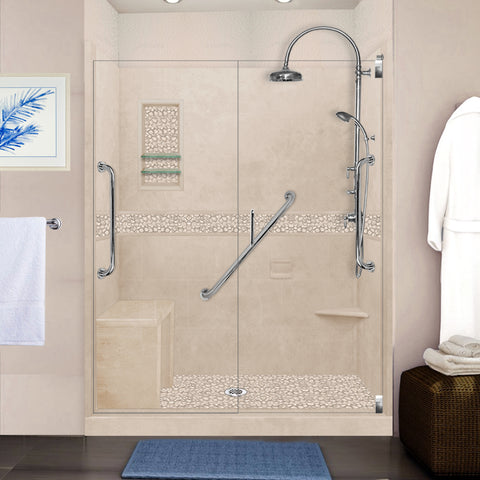 "Freedom Pebble Brown Sugar 60"" Alcove Shower Kit"