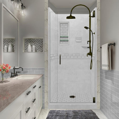 Subway Portland Cement Small Alcove Shower Kit