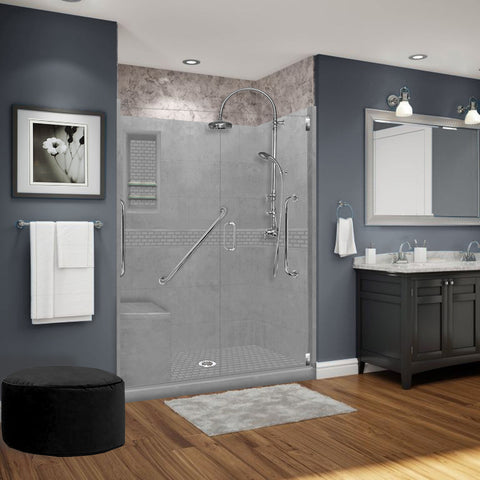 "Freedom Classic Wet Cement 60"" Alcove Shower Kit"