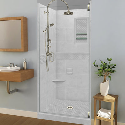 Classic Portland Cement Small Alcove Shower Kit