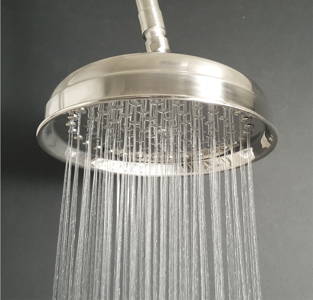 F92H In Wall Shower System with Pan Showerhead and Hand Shower ...